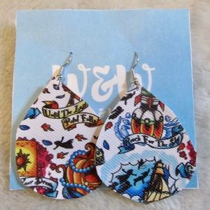 Disney Movie Inspired Faux Leather Earrings